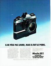 PUBLICITE ADVERTISING 027  1978  appareil photo Minota XG2