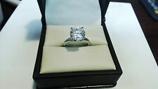 Round Cut Solitaire Engagement Wedding Ring  3.00ct. 14K White Gold #4422