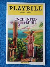 Enchanted April - Belasco Theatre Playbill - April 2003 - Patricia Conolly