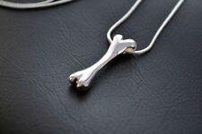 Knochen Anhänger Silver 925 + Kette Hunde Hund Bone Charm Dog Welpe