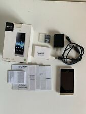 New listing Used Sony Xperia Miro unlocked mobile phone Gsm St23a White Gold + Extra Battery