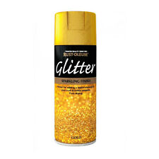 x1 Rust-Oleum Sparkling Gold Glitter Aerosol Spray Paint Clear Sealant Top Coat