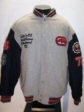 /ECKO UNLTD Mens XL X-Large 65%WOOL insulated Lettermans Jacket