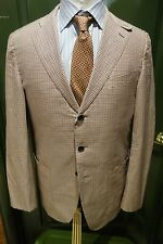 Caruso Italy Red Blue Plaid Sport Coat Size 52 EU 42 US Made Italy