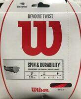 Wilson - WR830000217 - Revolve Twist Tennis Raquet String 17G/1.25mm - Red