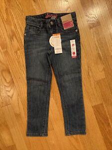 nwt gymboree 4 slim girls jeans adj waist skinny 4t