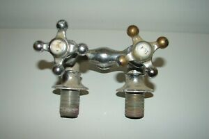 Antique Claw Foot Tub Double Handle Faucet Victorian Salvage