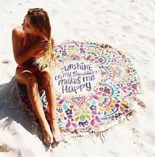 Round Hippie Tapestry Beach Throw Roundie Boho Mandala Towel Yoga Mat Bohemian