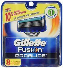 Gillette Fusion Proglide Manual Razor Blade Refills for Men, 8 Count, Genuine