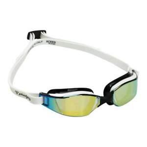 Michael Phelps XCEED Titanium Mirrored Lens Swim Goggles, Gold/Black, 189170