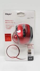 Digio 2 Mouse 5 Button Q Small Trackball Bluetooth Red New