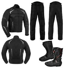 Motorbike Racing Cordura Textile Waterproof Suit with Motorcycle Leather Boot CE