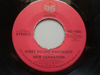 "New Censation - First Round Knockout 7"" Vinyl Single NM Northern Soul Pride"