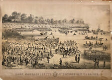 Camp Massachusetts At Concord 1859 Rare J H Bufford Lithograph Military As Is