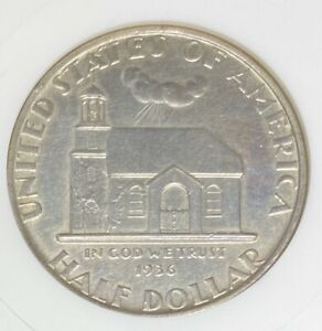 1936 Delaware Silver Commemorative Half MS 60