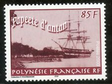 STAMP / TIMBRE POLYNESIE N° 685 ** PAPEETE D'ANTAN / VOILIER ACCOSTE