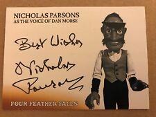 FOUR FEATHER FALLS: AUTOGRAPH CARD: NICHOLAS PARSONS NP2