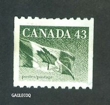 CANADIAN POSTAGE - CANADIAN FLAG 43 CENTS 1992 STAMP CANADA