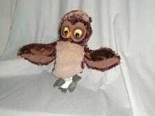 "9"" cute soft ikea vandring uggla owl closed mouth plush hand puppet"
