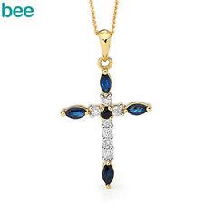 Blue Yellow Gold Diamond Fine Necklaces & Pendants