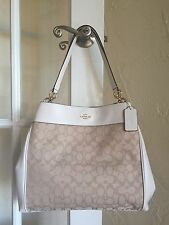 Coach F57612 Outline Signature Lexi Shoulder Bag Light Khaki Chalk