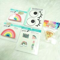 New Set of YOOBI Pencil Sharpener, Lighted Gel Cling, Puffy Stickers and Patches