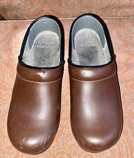Dansko Clogs Brown Leather Women's Euro Size 37 US Size 6.5 - 7
