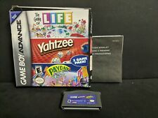 Game of Life/Yahtzee/Payday (Nintendo Game Boy Advance, 2005) Complete