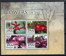 FLEUR Maldives 1 bloc de 2006 ** FLOWER BLUME