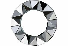 Heart of House Ebury Round Faceted Wall Mirror - Silver
