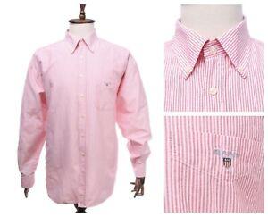 GANT Red Striped Cotton Oxford LS Shirt Size 3XL / 4XL