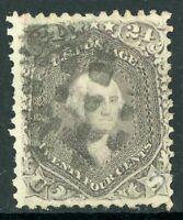 USA 1861 Washington 24¢ Grey Scott # 78b VFU J277 ⭐⭐⭐⭐⭐⭐