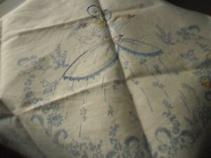 Vintage Unfinished Embroidery Projects  'Crinoline Lady'  Designs - with threads