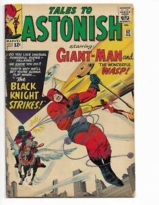 TALES TO ASTONISH 52 - QUALIFIED VG+ 4.5 - 1ST APPEARANCE OF BLACK KNIGHT (1964)