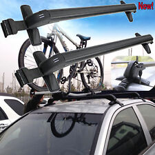 Universal Cars Black Anti Theft Car Roof Bars Without Rails Lockable Rack Box UK