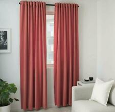 "IKEA Sanela Room Darkening Curtains 1 Pair Light Brown-red 55x98 "" 704.444.85"
