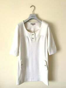 Stunning Women's SANDRO PARIS Shift Dress Wool Beige SZ 2 UK 8 10 38 Jacket Top