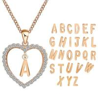 Gift Jewelry Women Choker 26 Letters ABC Pendant Heart Pattern Chain Necklace