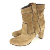 VIA ROMA 15 Italy Stiefelette Gr 42 Braun echt Wildleder Leder Schuhe NP 269 NEU