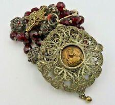 Alter Silber Rosenkranz mit Granaten um ca. 1900 (r3f)