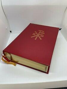 Große Bibel AT + NT Goldschnitt Pattloch Verlag aus 1981 Lizenzausgabe Schuber