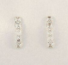 Butterfly Fastening Drop/Dangle White Gold Fine Earrings