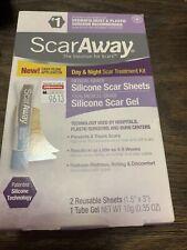 ScarAway Scar Treatment Kit, 2 Reusable Sheets & Tube Gel Exp 08/23