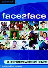 face2face Pre-intermediate Whiteboard Software Single Classroom, Cunningham, Gil