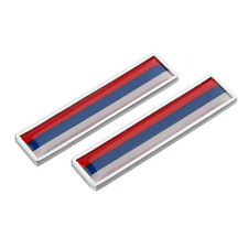 2Pcs Car Accessories Sticker Emblem Badge Decal with Russia Russian Flag