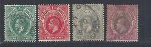 Southern Nigeria 1912 GV sg45 sg46 sg47 sg51 Used