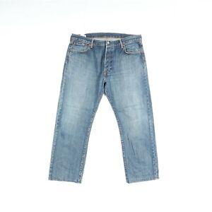 Levi's 501 Usato (Cod.Q519) W40 L34 ACCORCIATO Jeans Denim Vita Alta