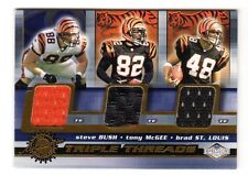 Cincinnati Bengals NFL 2001 Pacific Impressions TRIPLE Threads (Bush, McGee, Louis