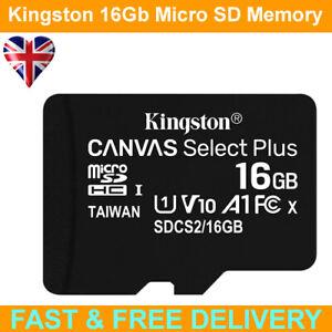 Kingston Canvas Select Plus 16GB Class 10 MicroSD Memory Card + Adapter