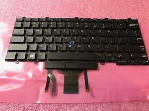 GENUINE Dell Latitude E5450 E7250 E7450 E7470 US Backlit Laptop Keyboard D19TR